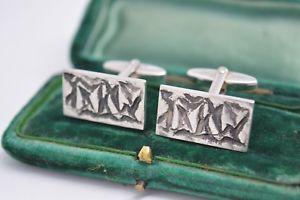 【送料無料】メンズアクセサリ― ビンテージスターリングシルバーアールデコデザインカフリンクスvintage sterling silver cufflinks with an art deco design b457