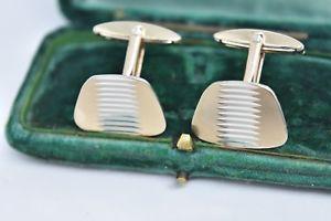 【送料無料】メンズアクセサリ― ビンテージスターリングシルバーアールデコデザインカフリンクスvintage sterling silver cufflinks with an art deco design g209
