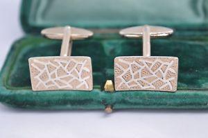 【送料無料】メンズアクセサリ― ビンテージスターリングシルバーアールデコデザインカフリンクスvintage sterling silver cufflinks with an art deco design b576