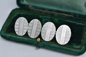 【送料無料】メンズアクセサリ― ビンテージスターリングシルバーアールデコデザインカフリンクスvintage sterling silver cufflinks with an art deco design g71