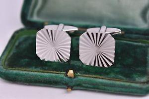 【送料無料】メンズアクセサリ― ビンテージスターリングシルバーアールデコデザインカフリンクスvintage sterling silver cufflinks with an art deco design g134