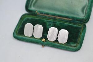 【送料無料】メンズアクセサリ― ビンテージスターリングシルバーアールデコデザインカフリンクスvintage sterling silver cufflinks with an art deco design b803