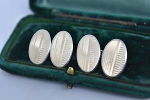 【送料無料】メンズアクセサリ― ビンテージスターリングシルバーアールデコデザインカフリンクスvintage sterling silver cufflinks with an art deco design g61
