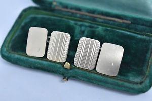 【送料無料】メンズアクセサリ― ビンテージスターリングシルバーアールデコデザインカフリンクスvintage sterling silver cufflinks with an art deco design g168