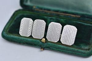 【送料無料】メンズアクセサリ― ビンテージスターリングシルバーアールデコデザインカフリンクスvintage sterling silver cufflinks with an art deco design g179