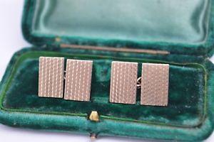 【送料無料】メンズアクセサリ― ビンテージアールデコスターリングシルバーゴールドプレートカフリンクスvintage art deco sterling silver cufflinks with a 9ct gold plate b278