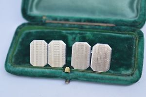 【送料無料】メンズアクセサリ― ビンテージアールデコデザインスターリングシルバーカフリンクスvintage sterling silver cufflinks with an art deco design b729
