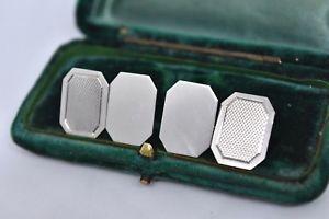 【送料無料】メンズアクセサリ― ビンテージスターリングシルバーアールデコデザインカフリンクスvintage sterling silver cufflinks with an art deco design g57