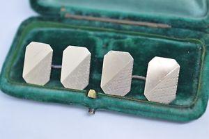 【送料無料】メンズアクセサリ― ビンテージスターリングシルバーアールデコデザインカフリンクスvintage sterling silver cufflinks with an art deco design b721