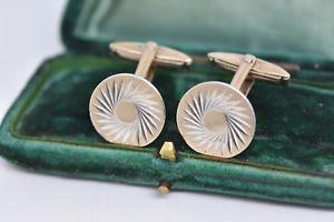 【送料無料】メンズアクセサリ― ビンテージスターリングシルバーアールデコデザインカフリンクスvintage sterling silver cufflinks with an art deco design g58