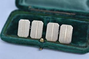 【送料無料】メンズアクセサリ― ビンテージスターリングシルバーアールデコデザインカフリンクスvintage sterling silver cufflinks with an art deco design g131