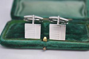 【送料無料】メンズアクセサリ― ビンテージアールデコデザインスターリングシルバーカフリンクスvintage sterling silver cufflinks with an art deco design b711