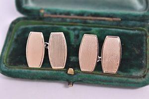 【送料無料】メンズアクセサリ― ビンテージスターリングシルバーアールデコデザインカフリンクスvintage sterling silver cufflinks with an art deco design g185