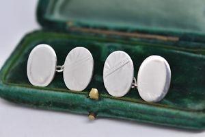 【送料無料】メンズアクセサリ― ビンテージスターリングシルバーアールデコデザインカフリンクスvintage sterling silver cufflinks with an art deco design g210