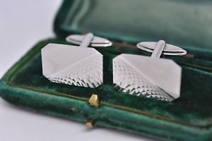 【送料無料】メンズアクセサリ― ビンテージスターリングシルバーアールデコデザインカフリンクスvintage sterling silver cufflinks with an art deco design g219