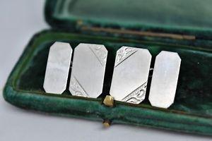 【送料無料】メンズアクセサリ― ビンテージスターリングシルバーアールデコデザインカフリンクスvintage sterling silver cufflinks with an art deco design g221