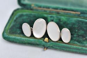【送料無料】メンズアクセサリ― ビンテージアールデコスターリングシルバーパールカフリンクスvintage art deco sterling silver cufflinks with a mother of pearl insert g213