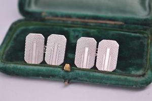 【送料無料】メンズアクセサリ― ビンテージアールデコデザインスターリングシルバーカフリンクスvintage sterling silver cufflinks with an art deco design b582
