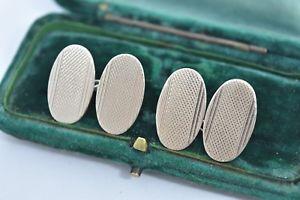 【送料無料】メンズアクセサリ― ビンテージスターリングシルバーアールデコデザインカフリンクスvintage sterling silver cufflinks with an art deco design g178