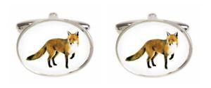 【送料無料】メンズアクセサリ― ノベルティーフォックスカフリンクスnovelty fox cufflinks