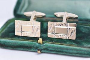 【送料無料】メンズアクセサリ― ビンテージスターリングシルバーアールデコデザインカフリンクスvintage sterling silver cufflinks with an art deco design g84