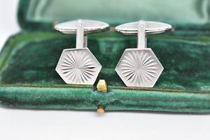 【送料無料】メンズアクセサリ― ビンテージスターリングシルバーアールデコデザインカフリンクスvintage sterling silver cufflinks with an art deco design g81