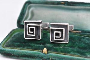 【送料無料】メンズアクセサリ― ビンテージスターリングシルバーアールデコデザインカフリンクスvintage sterling silver cufflinks with an art deco design g127