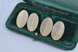 【送料無料】メンズアクセサリ― ビンテージスターリングシルバーアールデコデザインカフリンクスvintage sterling silver cufflinks with an art deco design g133