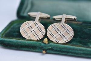 【送料無料】メンズアクセサリ― ビンテージスターリングシルバーアールデコデザインカフリンクスvintage sterling silver cufflinks with an art deco design g94