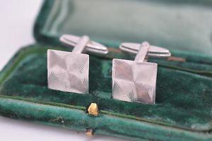 【送料無料】メンズアクセサリ― ビンテージスターリングシルバーアールデコデザインカフリンクスvintage sterling silver cufflinks with an art deco design b458