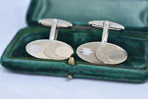 【送料無料】メンズアクセサリ― ビンテージアールデコデザインスターリングシルバーカフリンクスvintage sterling silver cufflinks with an art deco design g98
