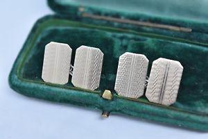 【送料無料】メンズアクセサリ― ビンテージスターリングシルバーアールデコデザインカフリンクスvintage sterling silver cufflinks with an art deco design g196