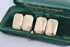 【送料無料】メンズアクセサリ― ビンテージスターリングシルバーアールデコデザインカフリンクスvintage sterling silver cufflinks with an art deco design g36
