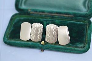 【送料無料】メンズアクセサリ― ビンテージスターリングシルバーアールデコデザインカフリンクスvintage sterling silver cufflinks with an art deco design b807