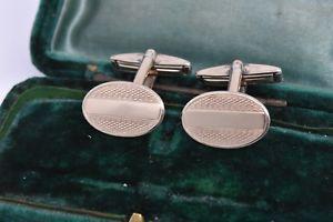 【送料無料】メンズアクセサリ― ビンテージスターリングシルバーアールデコデザインカフリンクスvintage sterling silver cufflinks with an art deco design g119