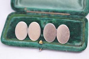 【送料無料】メンズアクセサリ― ビンテージスターリングシルバーアールデコデザインカフリンクスvintage sterling silver cufflinks with an art deco design b542