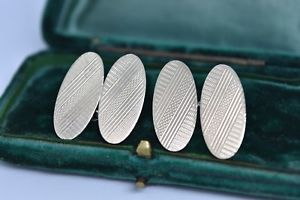 【送料無料】メンズアクセサリ― ビンテージスターリングシルバーアールデコデザインカフリンクスvintage sterling silver cufflinks with an art deco design g96