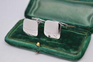 【送料無料】メンズアクセサリ― ビンテージスターリングシルバーアールデコデザインカフリンクスvintage sterling silver cufflinks with an art deco design b797