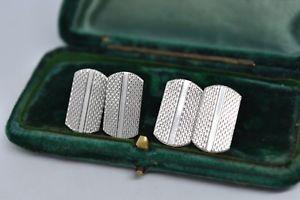 【送料無料】メンズアクセサリ― ビンテージスターリングシルバーアールデコデザインカフリンクスvintage sterling silver cufflinks with an art deco design g76