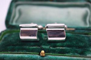 【送料無料】メンズアクセサリ― ビンテージスターリングシルバーアールデコデザインカフリンクスvintage sterling silver cufflinks with an art deco design b80