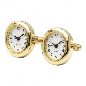 【送料無料】メンズアクセサリ― カフスボタンゴールドエディションworking watch cufflinks gold oval edition