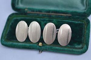 【送料無料】メンズアクセサリ― ビンテージスターリングシルバーアールデコデザインカフリンクスvintage sterling silver cufflinks with an art deco design b735