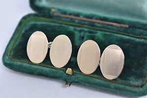 【送料無料】メンズアクセサリ― ビンテージスターリングシルバーアールデコデザインカフリンクスvintage sterling silver cufflinks with an art deco design g194