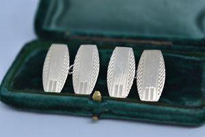 【送料無料】メンズアクセサリ― ビンテージスターリングシルバーアールデコデザインカフリンクスvintage sterling silver cufflinks with an art deco design g77