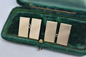 【送料無料】メンズアクセサリ― ビンテージスターリングシルバーアールデコデザインカフリンクスvintage sterling silver cufflinks with an art deco design g191