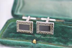 【送料無料】メンズアクセサリ― ビンテージアールデコデザインスターリングシルバーカフリンクスvintage sterling silver cufflinks with an art deco design b562