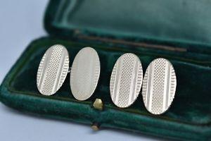 【送料無料】メンズアクセサリ― ビンテージスターリングシルバーアールデコデザインカフリンクスvintage sterling silver cufflinks with an art deco design g165