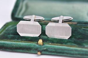 【送料無料】メンズアクセサリ― ビンテージスターリングシルバーアールデコデザインカフリンクスvintage sterling silver cufflinks with an art deco design g92