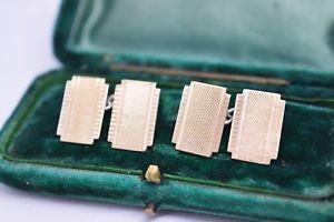 【送料無料】メンズアクセサリ― ビンテージアールデコスターリングシルバーゴールドプレートカフリンクスvintage art deco sterling silver cufflinks with a 9ct gold plate b254