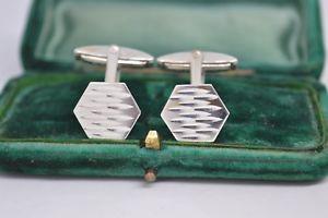 【送料無料】メンズアクセサリ― ビンテージアールデコデザインスターリングシルバーカフリンクスvintage sterling silver cufflinks with an art deco design b726